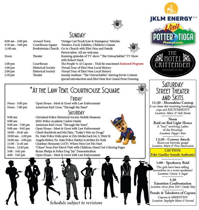 Eliot Ness Fest    Schedule Of Events